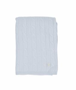 Bilde av LIVLY Cable Knit Cashmere Blanket - Blue